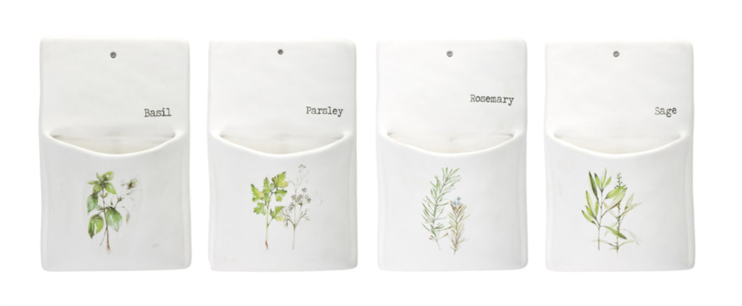 Herb Wall Pocket (Set of 4) 5.25