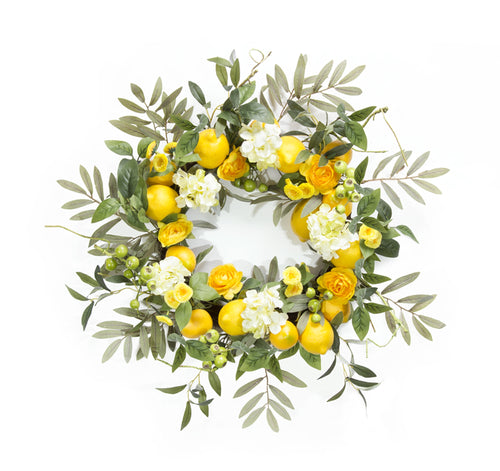 Lemon/Floral Wreath 22