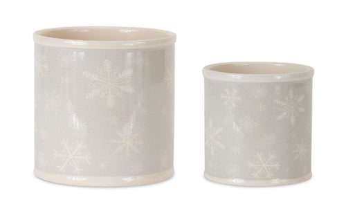 Pot w/Snowflakes (Set of 4) 4