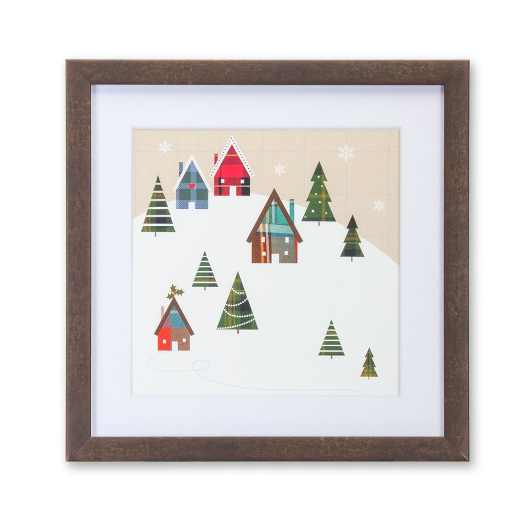Cabin and Tree Print 9.5