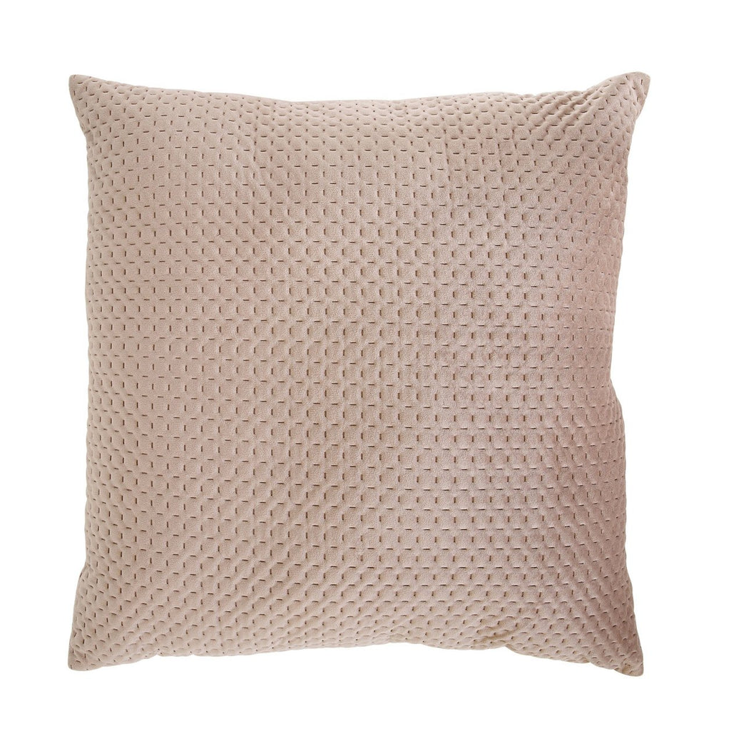 Square Cream Polyester Woven Pillow