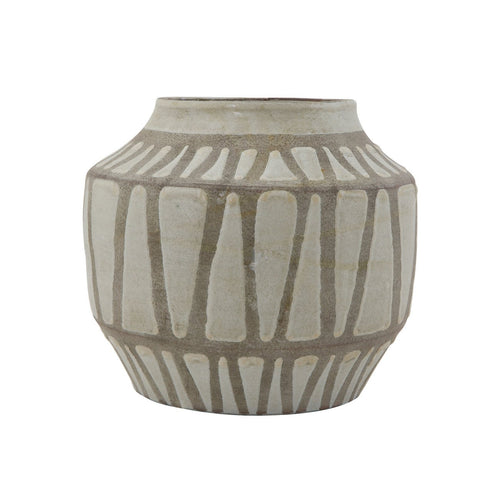Two-Tone Grey Terracotta Vase