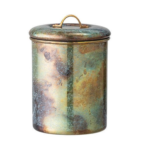 1.5 Quart Stainless Steel Kitchen Canister with Oxidized Finish Default Title