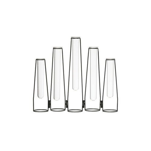 5 Glass Test Tube Vases in 13