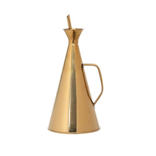 Gold Stainless Steel Oil Cruet Default Title