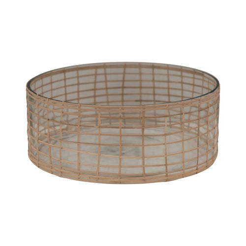 Woven Rattan and Glass Bowl Default Title