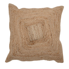 Load image into Gallery viewer, Natural Square Woven Cotton and Jute Blend Pillow Default Title