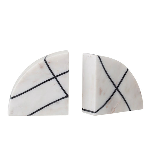 White & Black Marble Bookends, Set of 2 Default Title
