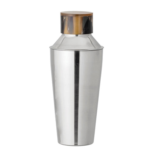 Round Stainless Steel Cocktail Shaker with Horn Top Default Title