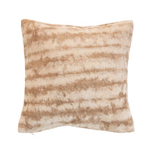 Load image into Gallery viewer, Cotton Blend Tie-Dyed Pillow, Brown & Beige Default Title