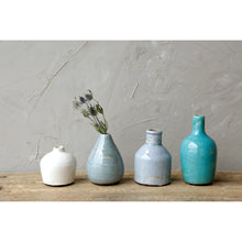 Load image into Gallery viewer, Blue & Ivory Terracotta Vases Set of 4 Sizes