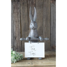 Load image into Gallery viewer, Resin Rabbit Holding Message Board