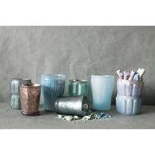 Load image into Gallery viewer, Set of 8 Mercury Glass Votive Holders in Blues and Greens