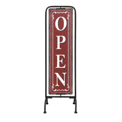 Red & White 2 Sided Open/Closed Sign