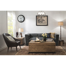 Load image into Gallery viewer, Mariner Tripod Style Wood Floor Lamp with Burlap Drum Shade