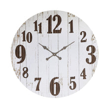 Load image into Gallery viewer, Black & White Wood & Metal Wall Clock