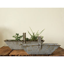 Load image into Gallery viewer, Set of 2 Rectangle Distressed Metal Baskets with Handles