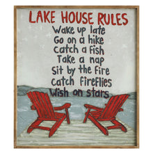 Load image into Gallery viewer, Lake House Rules ... Framed Wall Art