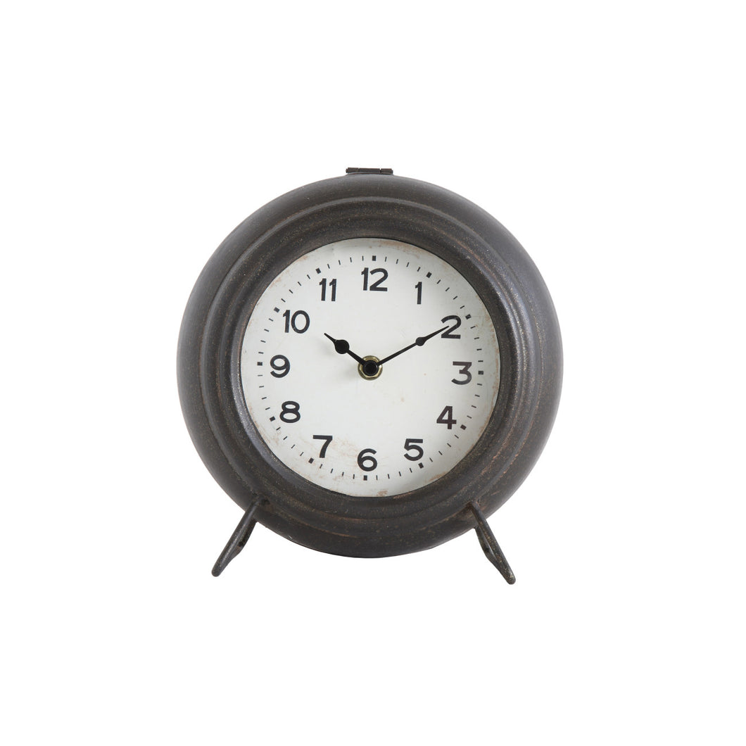 Black Metal Mantel Clock Default Title