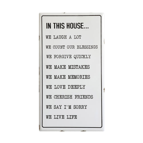 In This House ... Enameled Wall Plaque