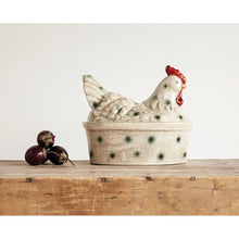 Load image into Gallery viewer, Stoneware Rooster Shaped Canister