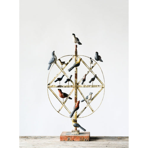 Metal & Magnesia Bird Décor