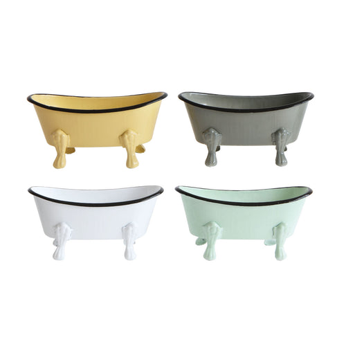 Metal Bathtub Soap Dishes (Set of 4 Colors) Default Title
