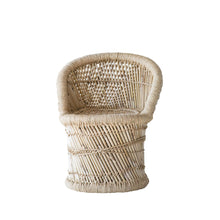 Load image into Gallery viewer, Woven Bamboo & Rope Tropical Children's Chair