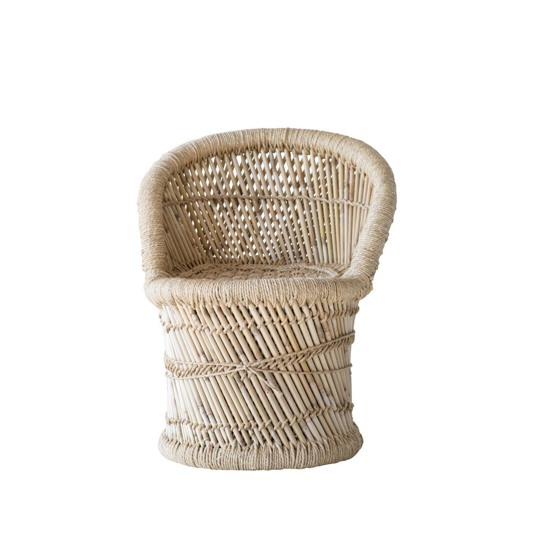 Woven Bamboo & Rope Tropical Children's Chair