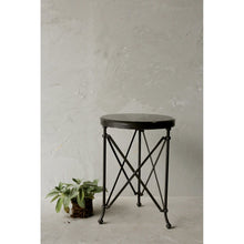 Load image into Gallery viewer, Metal Table with Marble Top