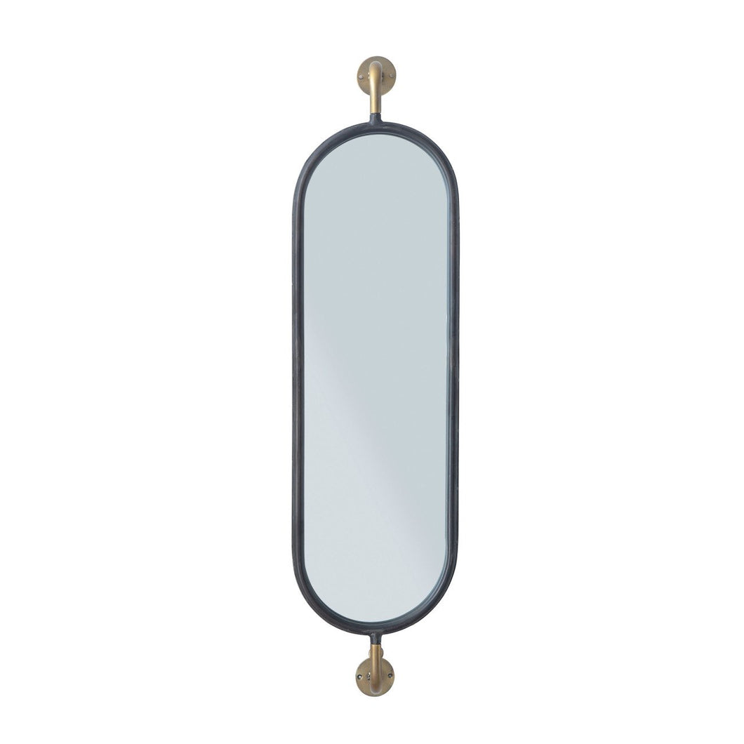 Swivel Wall Mount Metal Mirror with Brackets