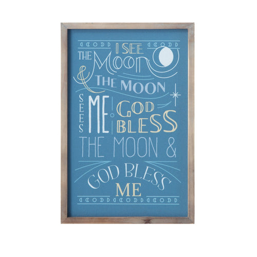 I See the Moon Canvas & Wood Wall Décor