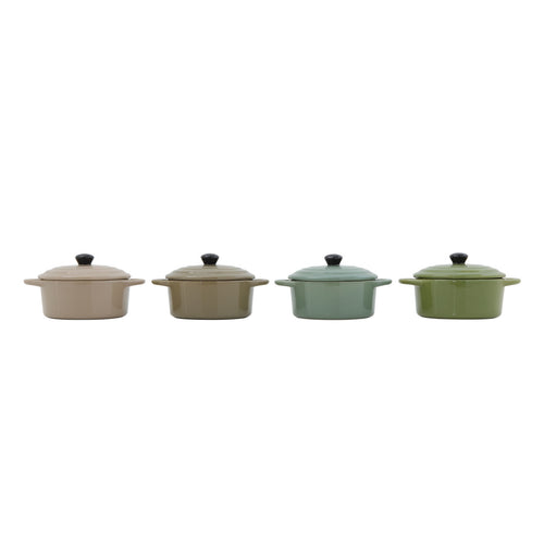 Stoneware Mini Baker with Lid (Set of 4 Colors) Default Title