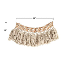 Load image into Gallery viewer, Wool Bead Wall Hanging with Wool Fringe