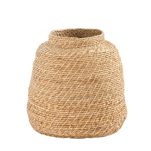 Small Handwoven Cattail Basket