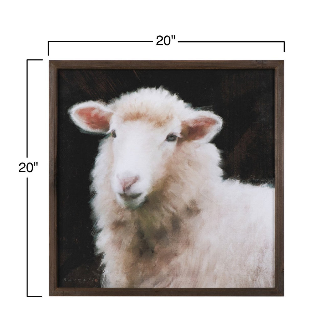 Goat & Sheep Wood Framed Wall Art (Set of 2 Styles)