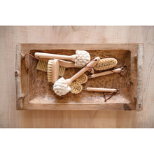 Load image into Gallery viewer, Hand-Carved Mango Wood Tray with Birch Branch Handles