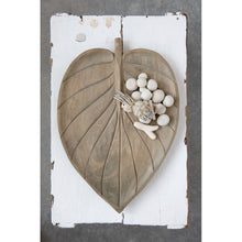 Load image into Gallery viewer, Hand-Carved Mango Wood Leaf Shaped Tray