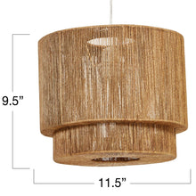 Load image into Gallery viewer, Paper String Pendant Light with 4' Cord (Hardwire Only)