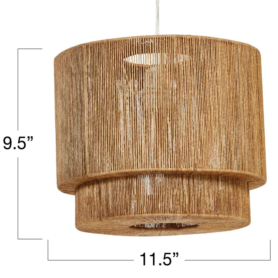 Paper String Pendant Light with 4' Cord (Hardwire Only)