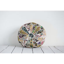 "Load image into Gallery viewer, 8""H Patchwork Printed Cotton Kantha Pouf"
