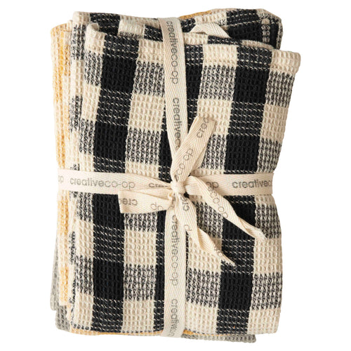 Gingham Cotton Waffle Weave Tea Towels (Set of 3 Colors) Default Title