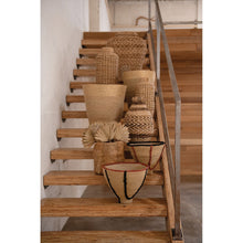 "Load image into Gallery viewer, 16"" & 20"" Handwoven Natural Seagrass Baskets (Set of 2 Sizes)"