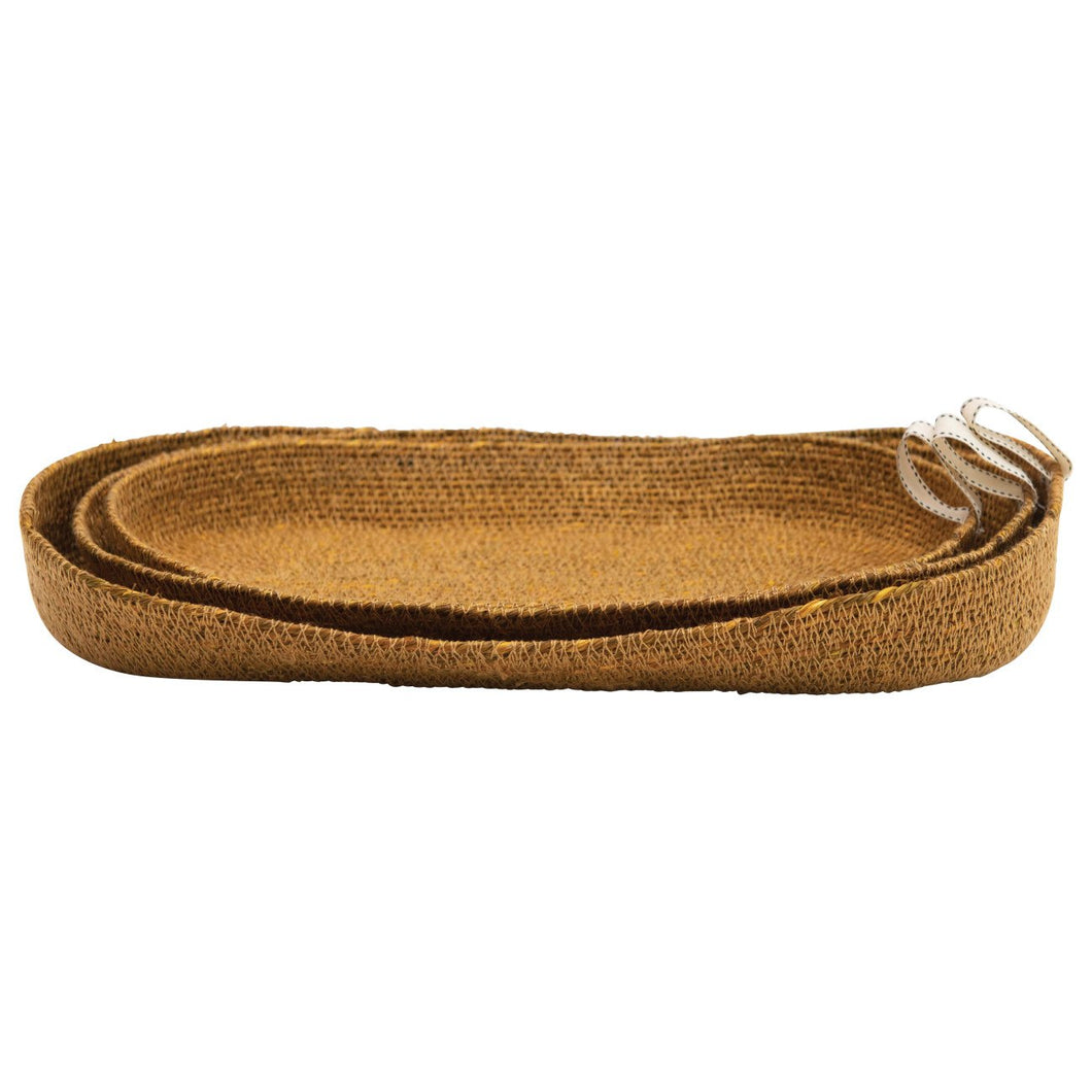 Decorative Handwoven Natural Seagrass Baskets (Set of 3 Sizes)