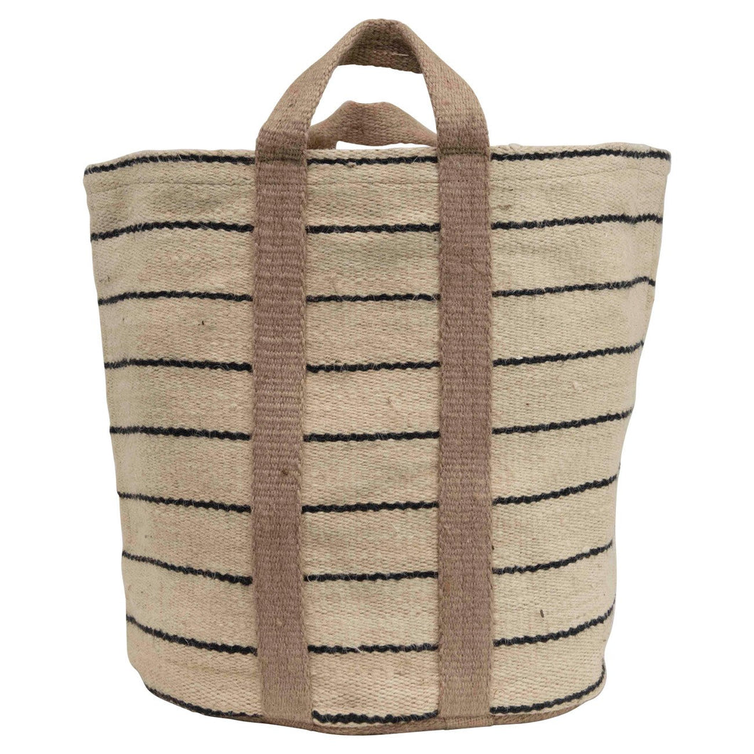Jute Striped Bag with Handles