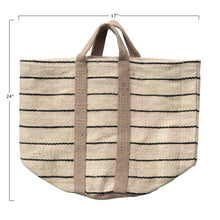 Load image into Gallery viewer, Jute Striped Bag with Handles