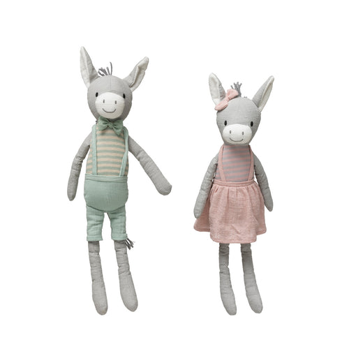 Cotton Knit Plush Donkey (Set of 2 Styles) Default Title