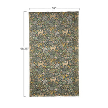 "Load image into Gallery viewer, 59""L x 98""H Decorator Paper with Flowers & Deer"
