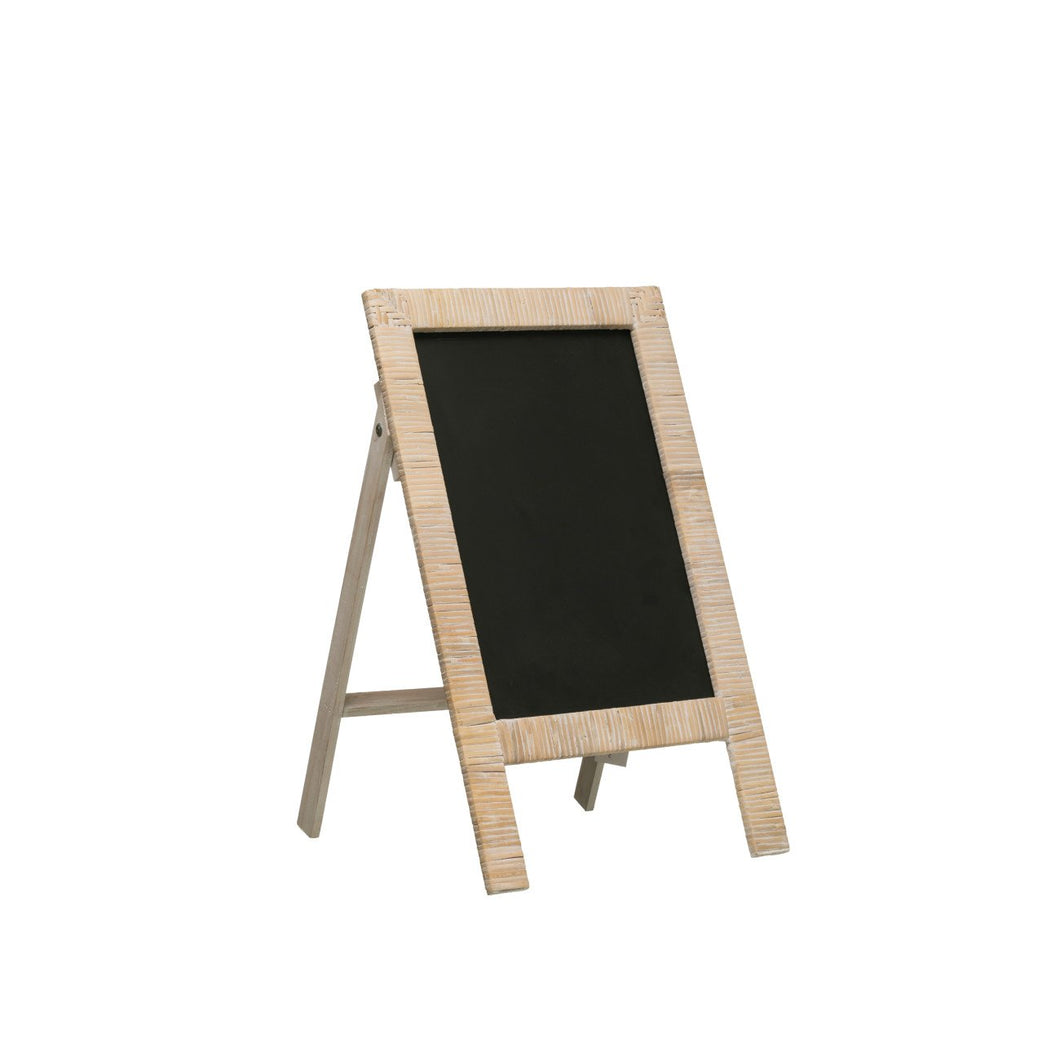 Wrapped Rattan & Wood Chalkboard Easel