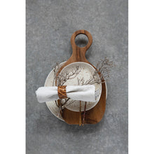 Load image into Gallery viewer, Teak Wood Cheese/Cutting Board with Round Handle
